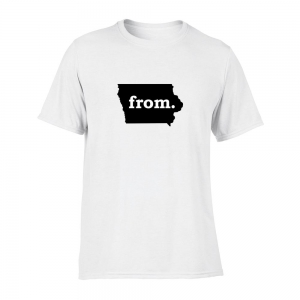 Short Sleeve Polyester T-Shirt - Iowa