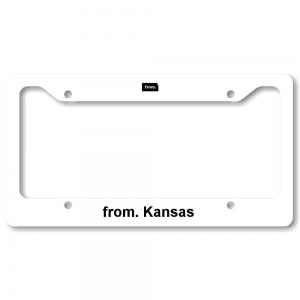 License Plate Frame - Kansas