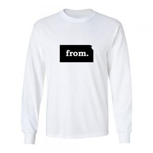 Long Sleeve Polyester T-Shirt - Kansas