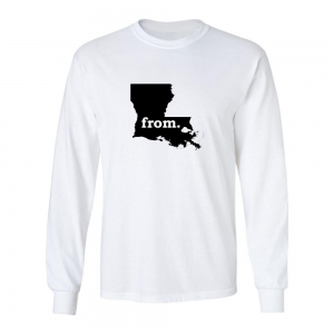 Long Sleeve Cotton T-Shirt - Louisiana