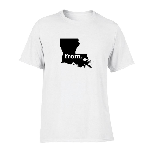 Short Sleeve Polyester T-Shirt - Louisiana