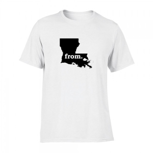 Short Sleeve Cotton T-Shirt - Louisiana