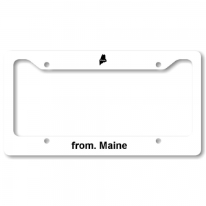 License Plate Frame - Maine