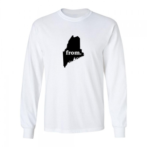 Long Sleeve Cotton T-Shirt - Maine