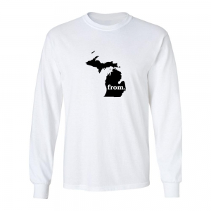 Long Sleeve Cotton T-Shirt - Michigan