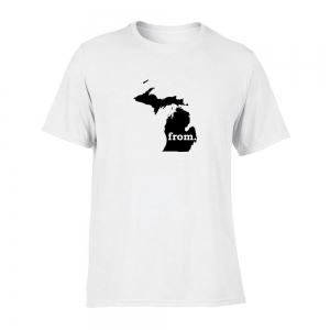 Short Sleeve Cotton T-Shirt - Michigan