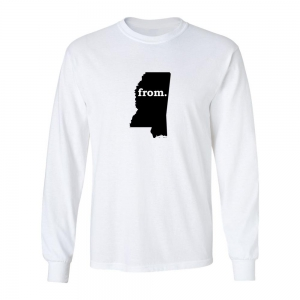 Long Sleeve Cotton T-Shirt - Mississippi