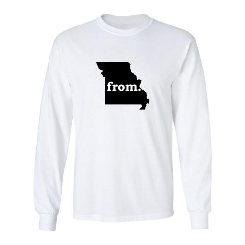 Long Sleeve Polyester T-Shirt - Missouri
