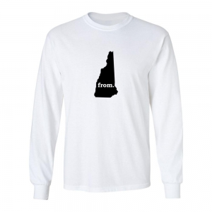 Long Sleeve Cotton T-Shirt - New Hampshire