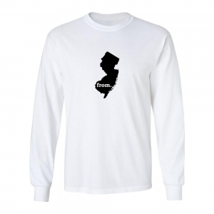 Long Sleeve Cotton T-Shirt - New Jersey