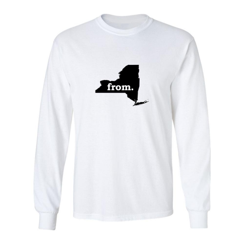 Long Sleeve Polyester T-Shirt - New York