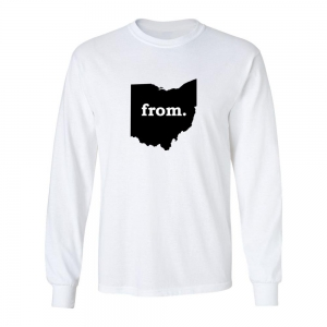 Long Sleeve Polyester T-Shirt - Ohio
