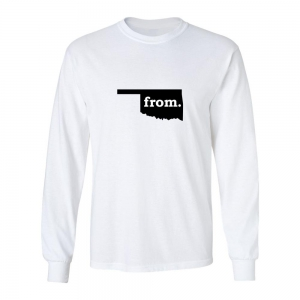 Long Sleeve Polyester T-Shirt - Oklahoma