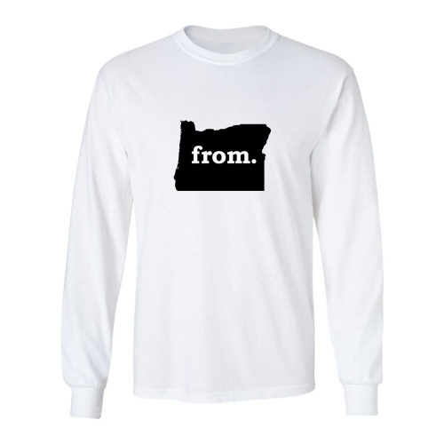 Long Sleeve Cotton T-Shirt - Oregon