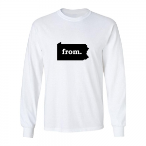 Long Sleeve Cotton T-Shirt - Pennsylvania