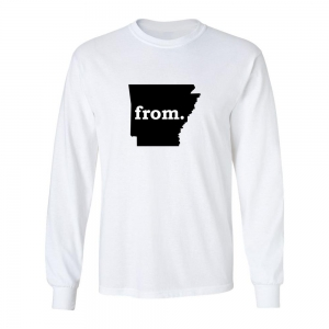 Long Sleeve Cotton T-Shirt - Arkansas