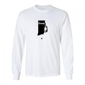 Long Sleeve Cotton T-Shirt - Rhode Island